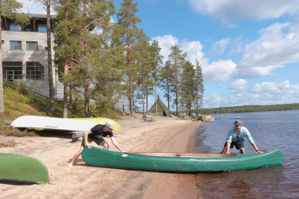 Canoeing in Hotel Kalevala